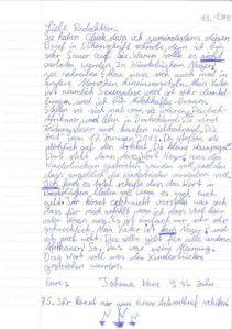 Brief an die ZEIT