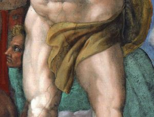 Nicht mehr nackt: Michelangelos Figuren in der Sixtina