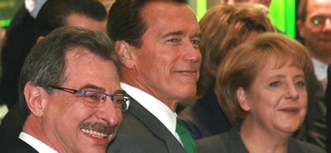 Terminator und Gouvernator Arnold Schwarzenegger auf der CeBIT
