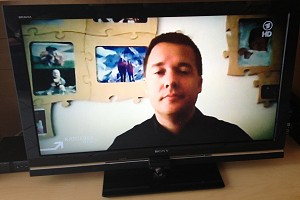 Christian via Skype in der ARD