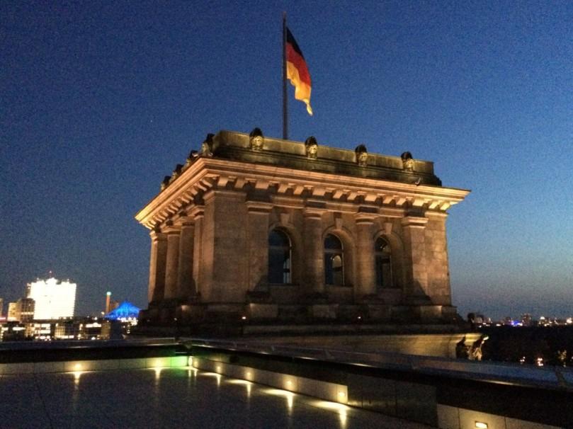 Auf dem Dach des Reichstags