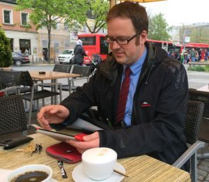Das iPad, der Multimedia-Begleiter des neuen Erlanger OB