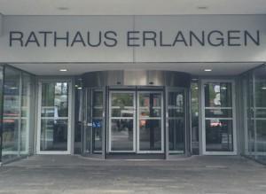 Das Rathaus Erlangen, Amtssitz von Florian Janik