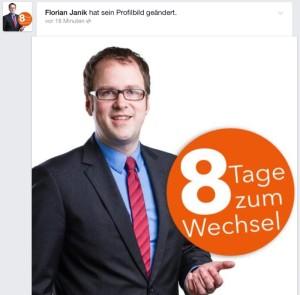 Professionell gepflegtes Facebook-Profil im Wahlkampf