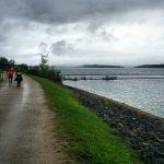 Finstere Wolken beim Seenlandmarathon