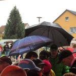 Kurz vorm Start: Regen