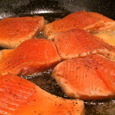 Pfanne, Öl, Fisch