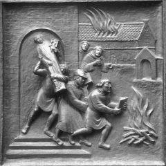 Bildersturm - Relief am Zürcher Münster