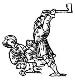 Bildersturm - Holzschnitt aus dem 15. Jahrhundert