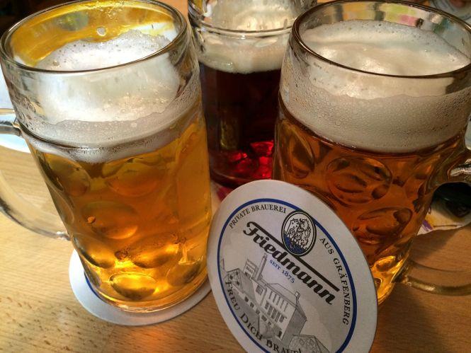 Einkehren bei der Brauerei Friedmann in Gräfenberg