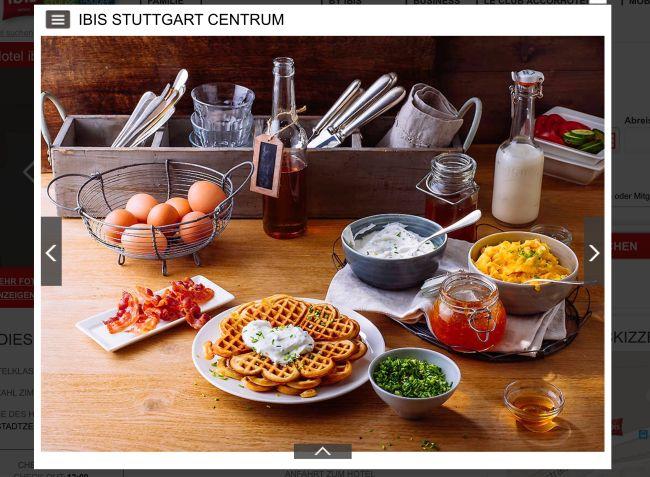 Scheinbar das Frühstück bei Ibis in Stuttgart