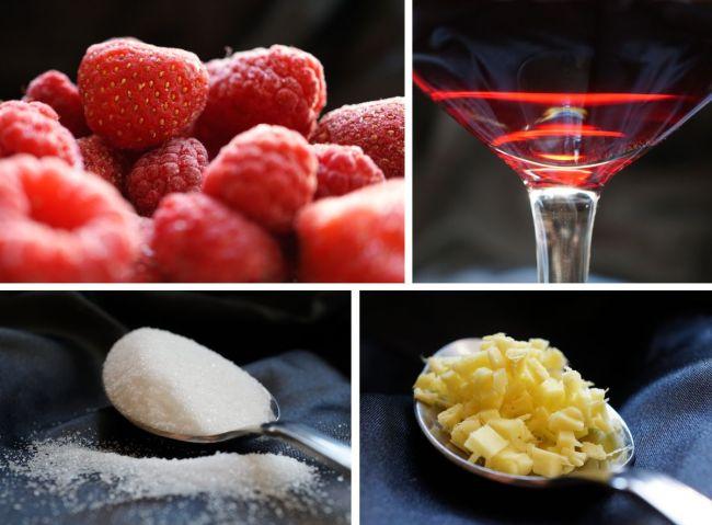 Früchte, Wein, Zucker, Ingwer