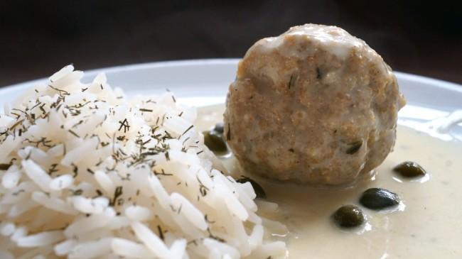 Königsberger Klopse mit Reis