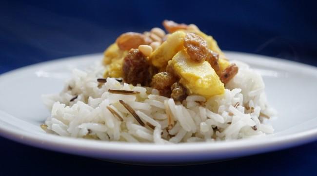 Rotbarsch mit Curryreis